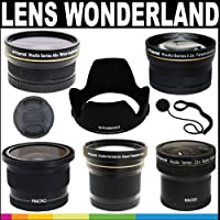 Polaroid Premium Package: Polaroid Studio Series 67mm HD Lens Wonderland Kit (.21x Super Fisheye Lens, .42x Fisheye Lens, 3.5X Super Telephoto Lens, .43x Wide Angle Lens, 2.2X Telephoto Lens, Lens Hood With Exclusive Pushbutton Mounting System, Snap Mount Lens Cap, Lens Cap Strap)