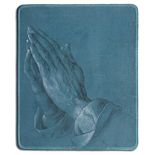 - Art Mousepad - Natural Rubber Mouse Pad with Famous Fine Art Painting of Praying Hands, 1508 by Albrecht D??RER - Stitched Edges - 9x7 inches