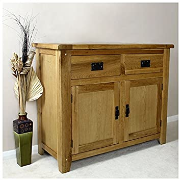 Stupendous Rustic Solid Light Oak Sideboard Small Living Room Best Image Libraries Thycampuscom