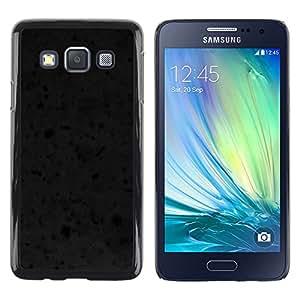 Exotic-Star ( Black Texture ) Fundas Cover Cubre Hard Case Cover para Samsung Galaxy A3 / SM-A300