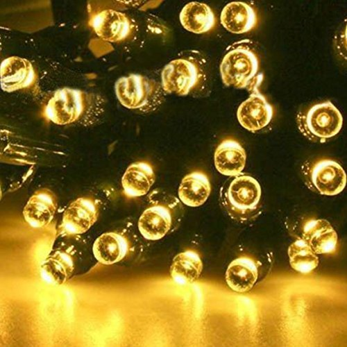 Sogrand Solar String Lights Outdoor Waterproof Decorations Tree Light Warm White 200 LED Decorative Fairy Lighting Garden Decor for Outside Landscape Patio Yard