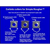 Replacement Carbide Cutter Insert for Simple Rougher (Sr) 14mm Square Simple Wood Turning Tools