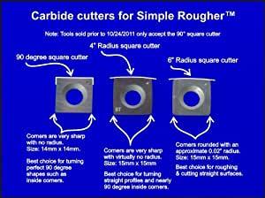 Package of 3 Square Carbide Replacement Cutters Inserts for Simple Rougher (Sr)