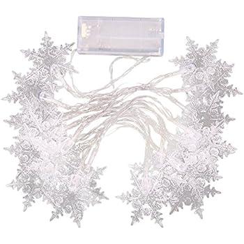 Amazon Com Sztara 20 Led Snowflake Fairy String Lights
