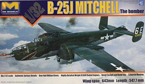 HK Models 1:32 B-25 J Mitchell the Bomber Plastic Aircraft Model Kit #01E01