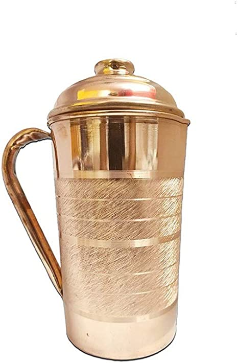 Pure Copper JUG Ayurvedic Water Storage 1 ltr Good for Stomach//Skin//Liver//Kidney