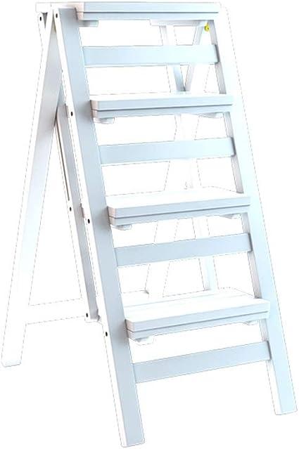 Qi Tai Escalera Plegable Taburete de Madera sólida Multiuso ...