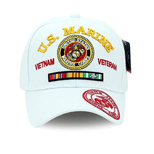 U.S. Marine Vietnam Veteran Hat U.S. Military Hat Baseball Cap Velcro Adjustment Strap