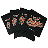Baltimore Orioles 4-Pack Sublimated Neoprene Beverage 12oz Insulated Can Hugger Cooler