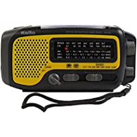 Kaito KA350YLW Voyager Trek Solar/Crank AM/FM/SW NOAA Weather Radio with 5-LED Flashlight, Yellow