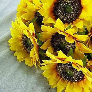 """Lily Garden 24"""" Silk Sunflowers Artificial Flowers Decor (1) 2"""