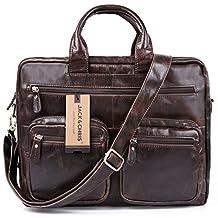 Jack&Chris®Men's Briefcase Laptop Bag Messenger Shoulder Bag Handbag,NM7231