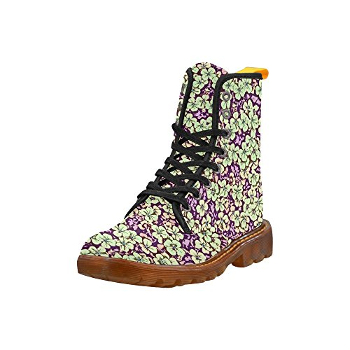 LEINTEREST floral comic style Martin Boots Fashion Shoes For Women gyr17Cps