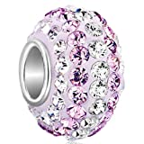 Pugster Sale Sterling Silver 925 Clear Austrian Crystal Charms Birthstone Beads Fit Pandora Bracelet Bild