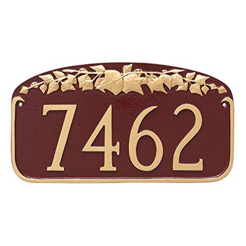 Montague Metal Ivy Leaf Address Sign Plaque, 7.25
