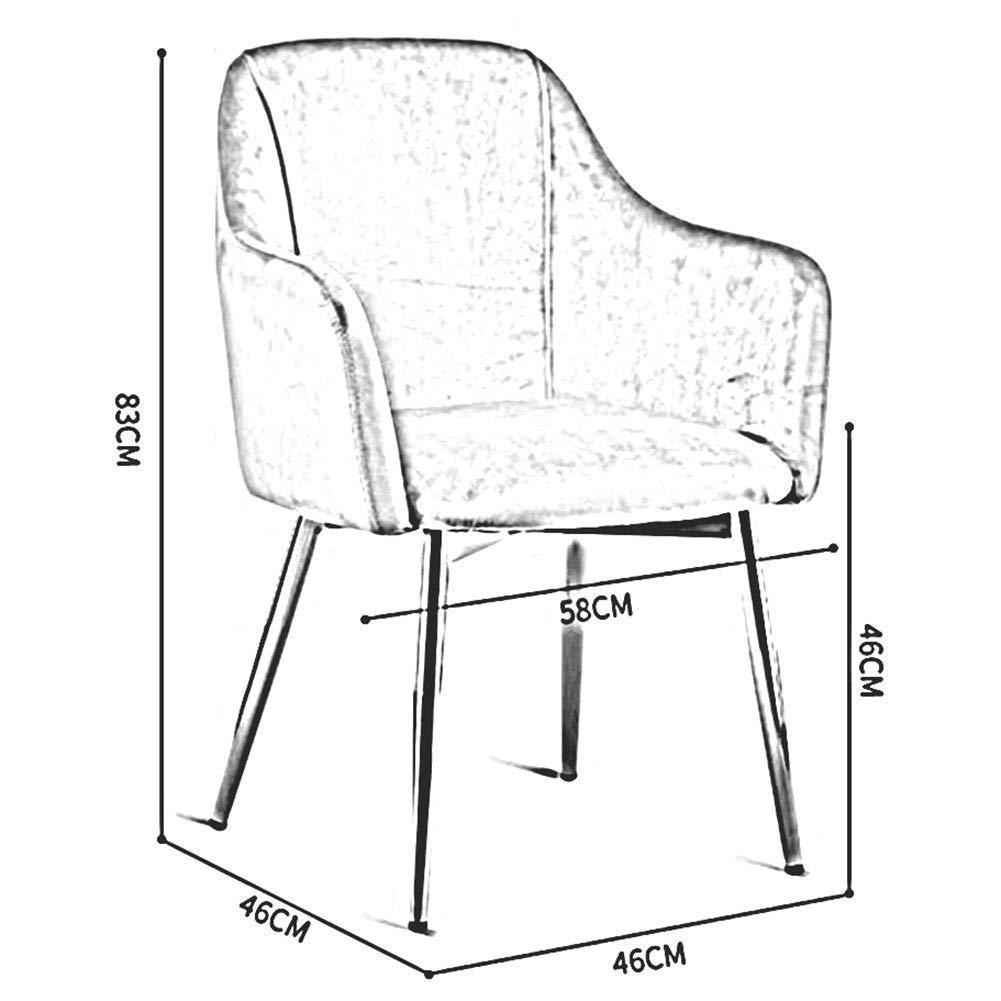JIEER-C Fritidsstolar matstol stoppad ryggstöd fåtölj moderna möbler soffa stol metall ben vardagsrum kaffestol hållbar stark Rosa 2