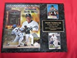 White Sox Frank Thomas 2 Card Collector Plaque w/ 8x10 HALL OF FAME Photo