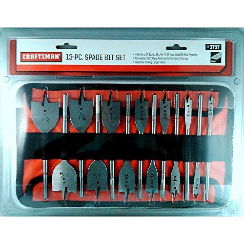 Craftsman 9-3797 Spade Bit Set, 13 Piece (Spade Bit Craftsman)