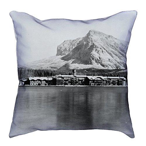 Glacier National Park Pillow   Glacier National Park Photography Pillow   Black and White Pillow