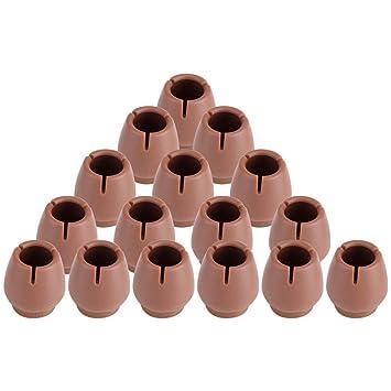 Tapacubos antideslizantes para patas de silla, PVC, color marrón, antiarañazos, 16 unidades, for diameter 12-16mm legs: Amazon.es: Hogar