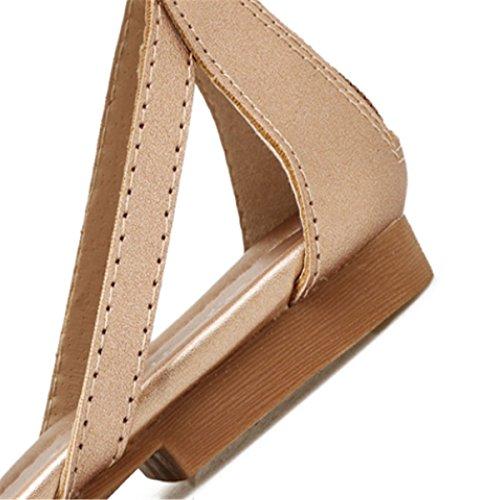 Mode Hauteurs Flat Bottes Or Sandales Fermeture Fanessy Chaussure D'été Spartiate Éclair Plage Casual Bootes Femmes Ajourée Nouir Romain Gladiateur z5gqI