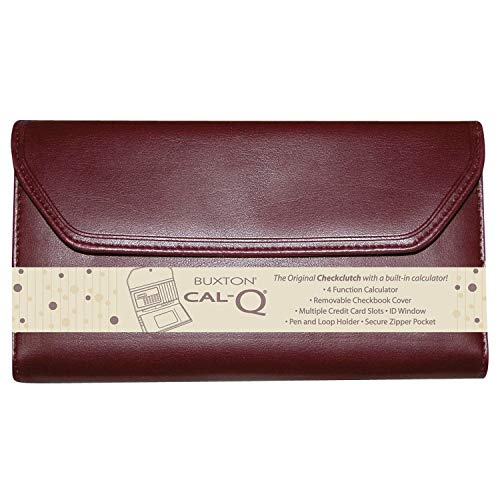 Checkbook Wallet with Calculator by Buxton (Burgundy)