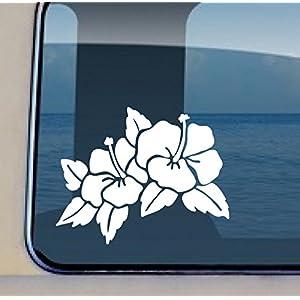Hibiscus Flower Decal Hawaiian Flower Vinyl Sticker 3.5 by 4.5 inch