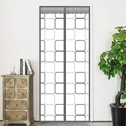 HMHD Cortina PVC Transparente, Cortina de Ventana Cierre MagnéTico Cortina Cierra AutomáTicamente Instalación Velcro, para Puertas Correderas, de Patio -Gray-110x205CM: Amazon.es: Hogar