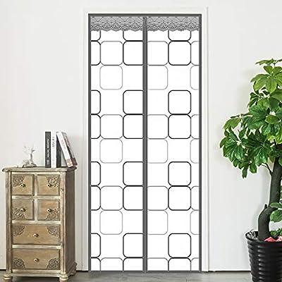 HMHD Cortina Termica Transparente, Aislante Termico Puerta Cortinas Aislantes Termicas Cierra AutomáTicamente Instalación Velcro, para Supermercado Centro Comercial -Gray-90x210CM: Amazon.es: Hogar