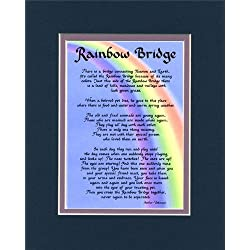 McDarlins Calligraphy Rainbow Bridge Dog Memorial Wall Decor Poem Pet Saying Bereavement Keepsake Gift
