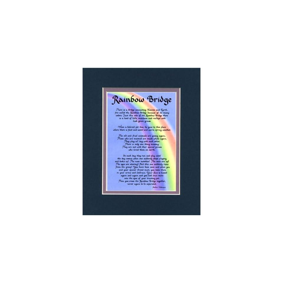 Rainbow Bridge Dog Memorial Wall Decor Poem Pet Saying Bereavement Sign