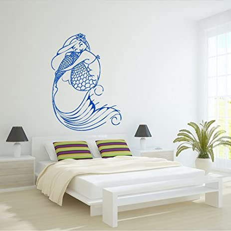 Merveilleux Wall Decal Decor Decals Art Mermaid Girl Fish Tail Sea Ocean Story Design  Mural Bedroom (
