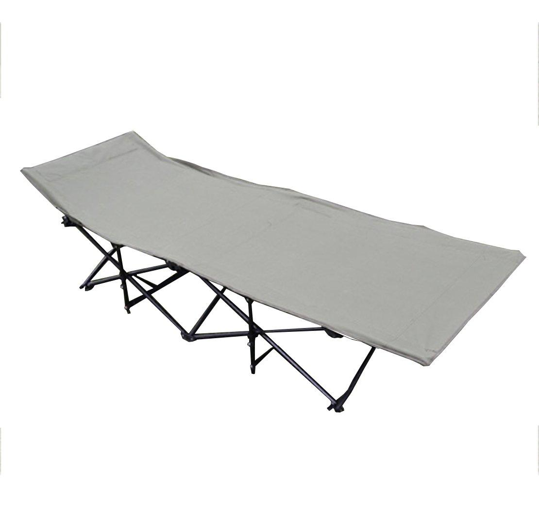 JJY Wasserdichte Oxford Tuch Outdoor Camp Bett Klappbett Lounge Chair Mittagspause Verlängern Erweiterung Strandbett,Grün