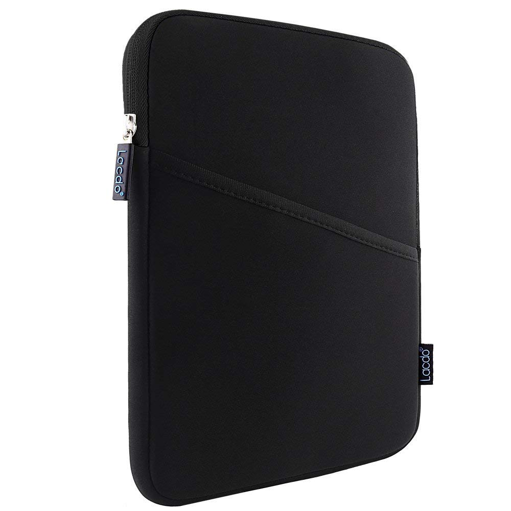 Lacdo Shockproof Tablet Sleeve Case for 11 inch New iPad Pro 2018   iPad Pro 10.5 inch   9.7 inch New iPad   iPad Air 2   Samsung Galaxy Tab 10.1 Protective Bag, fit Apple Smart Keyboard, Black/Black