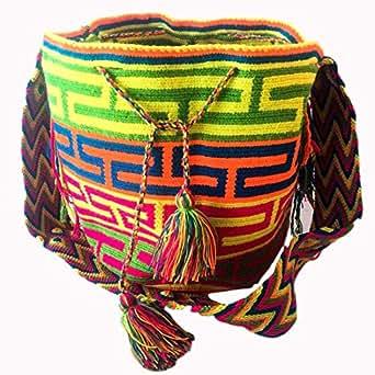 Wayuu handmade crossbody bag for women - CITRUS BREEZE