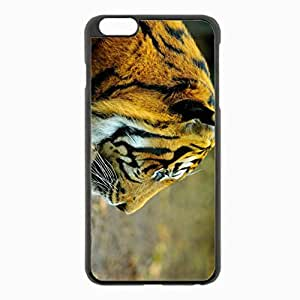 iPhone 6 Plus Black Hardshell Case 5.5inch - tiger eyes profile predator Desin Images Protector Back Cover
