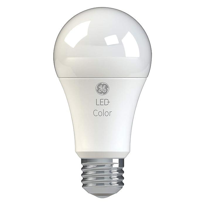 GE Lighting 93100205 LED+ Color A21 Bulb, 1-Pack, RGB