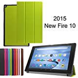 X-Tablet Amazon Fire HD 10 (10.1 HD Display 5th Generation-2015 release) Case - Slim Lightweight Standing Custom Fit Cover [Auto Sleep / Wake up] for Amazon Fire HD 10 Tablet (green)