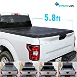 #9: Syneticusa Aluminum Hard Folding Tonneau Cover Truck Cargo Tri-Fold Bed Cover for 2014-2018 Silverado/Sierra 5.8ft Short Bed