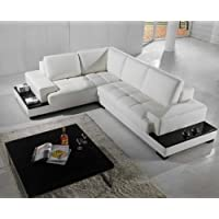 Vig Furniture T71 Modern Leather Sectional