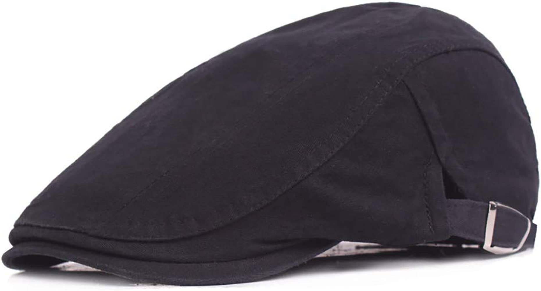 Color : 2, Size : Free Size MUMUWU Caps Men Cotton Adjustable Flat Cap Quilted Duckbill Newsboy Gatsby Irish Hat Hat