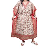 Womens Boho Kaftan Paisley Printed Bohemian Hippie Caftan Beach Cover Up XXXL