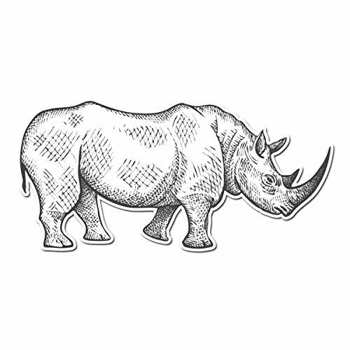 Rhinoceros Pencil Drawn Full Color - 5