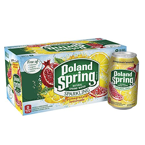 (Poland Spring Sparkling Water, Pomegranate Lemonade, 12 oz. Cans (Pack of 8))