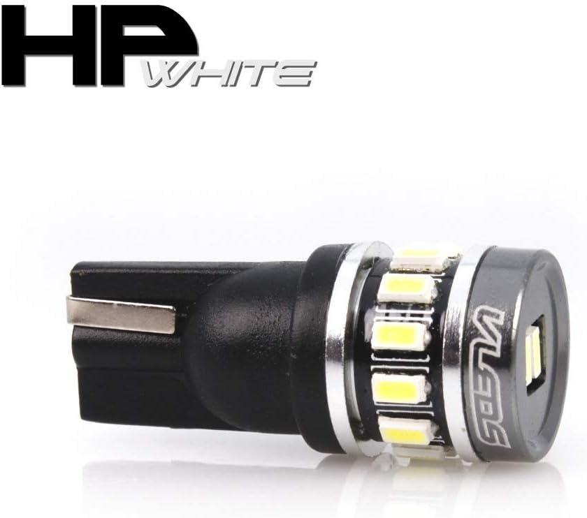 VLEDS 2pcs 70lm 5500K White 194 T10 2825 360/° Long Life 1 LED Bulb
