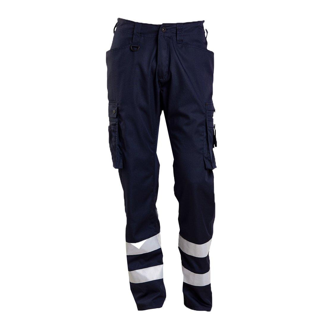 Mascot 17879-230-010-82C46 Service Trousers Safety Pants, Black/Blue, 82C46