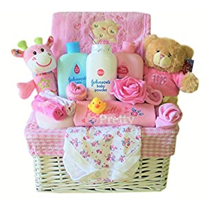 Luxury Baby Gift Basket for a Girl
