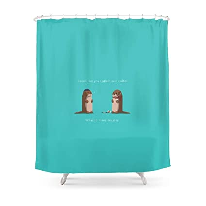 Amazon MAOXUXIN What An Otter Disaster Shower Curtain 60 By 72