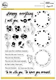 Pinkfresh Studio Happy Everything Clear Stamp Set 6''X8''