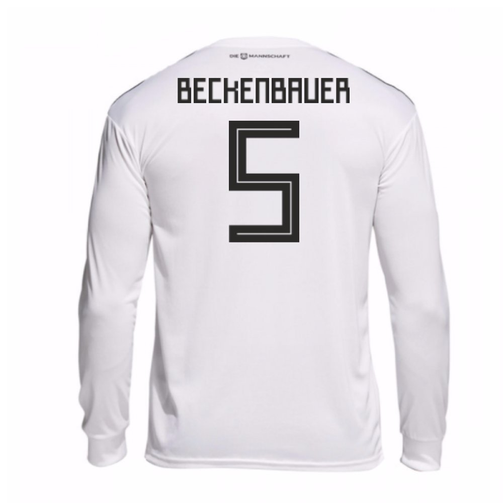 2018-19 Germany Home Long Sleeve Football Soccer T-Shirt Trikot (Franz Beckenbauer 5)
